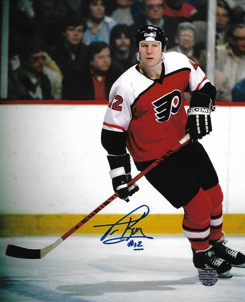 "Tim Kerr in Action Philadelphia Flyers Autographed 8"" x 10"" Hockey Photo"