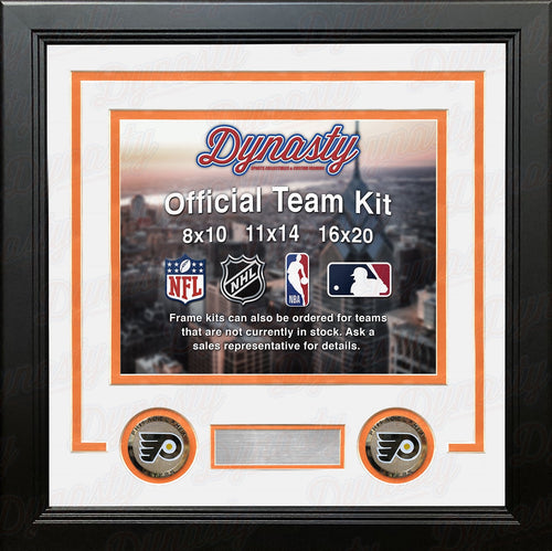 Philadelphia Flyers NHL Hockey Photo Picture Frame (White Matting, Orange Trim) - Dynasty Sports & Framing