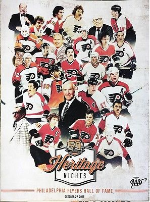 Philadelphia Flyers 50th Anniversary Alumni Heritage Nights Limited Edition NHL Hockey Team Poster - Dynasty Sports & Framing