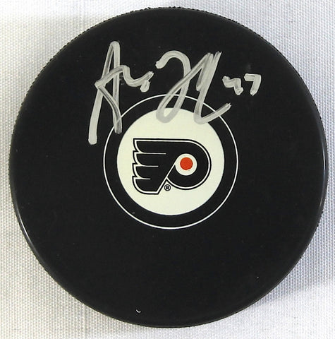 Andrew MacDonald Autographed Philadelphia Flyers Logo Puck - Dynasty Sports & Framing