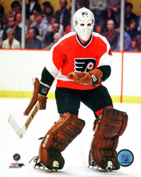 "Bernie Parent in Action Philadelphia Flyers 8"" x 10"" Hockey Photo - Dynasty Sports & Framing"