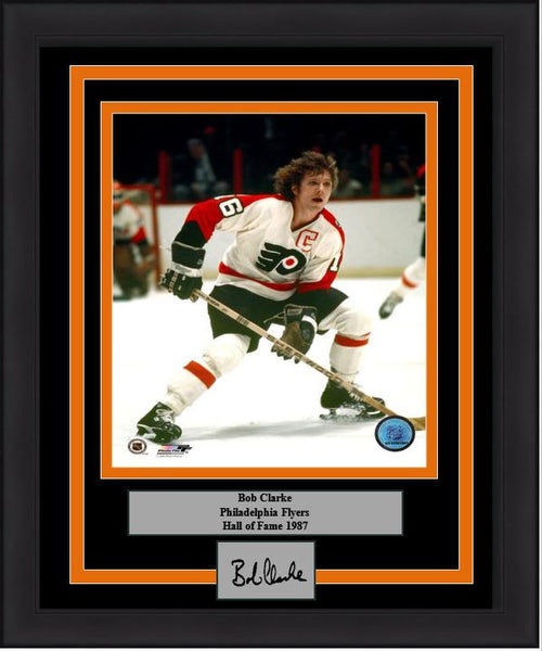 "Philadelphia Flyers Bob Clarke 8"" x 10"" Hockey Engraved Autograph Framed & Matted Photo (Dynasty Signature Collection) - Dynasty Sports & Framing"