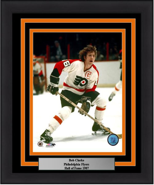 "Philadelphia Flyers Bob Clarke 8"" x 10"" Hockey Framed & Matted Photo - Dynasty Sports & Framing"