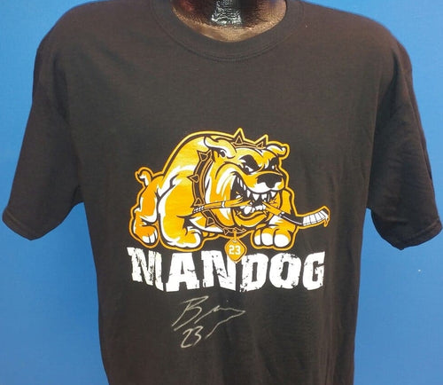 Philadelphia Flyers NHL Hockey Brandon Manning MANDOG Autographed T-Shirt (Dynasty Sports Exclusive)