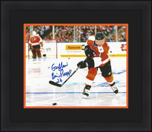 "Philadelphia Flyers Brian Propp Winter Classic Autographed NHL Hockey Framed and Matted Photo Inscribed ""Guffaw"" - Dynasty Sports & Framing"