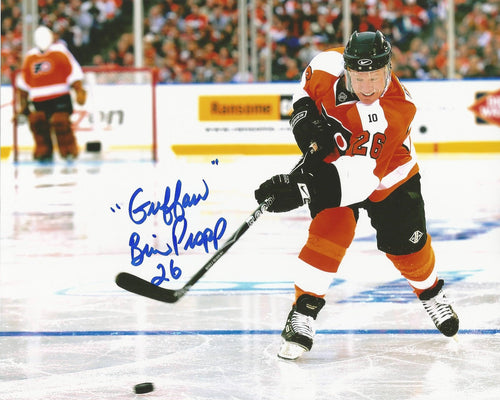 "Philadelphia Flyers Brian Propp Winter Classic Autographed NHL Hockey Photo Inscribed ""Guffaw"" - Dynasty Sports & Framing"