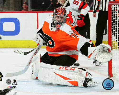 Carter Hart Philadelphia Flyers First Career Shutout NHL Hockey Photo - Dynasty Sports & Framing