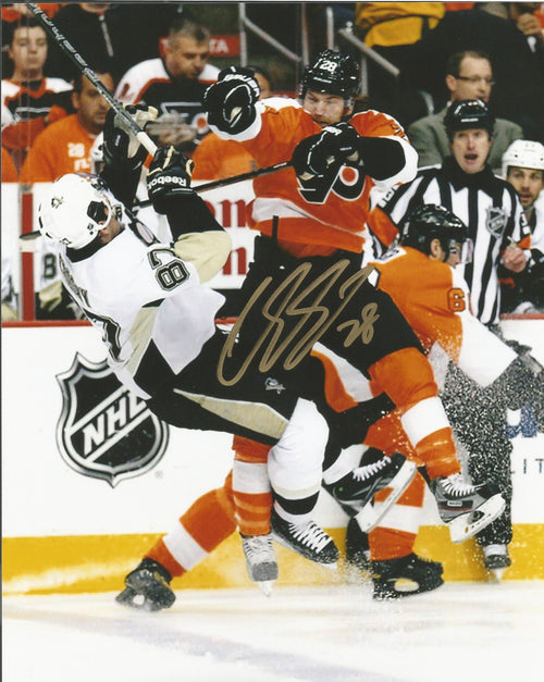 "Claude Giroux Autographed Philadelphia Flyers 11"" x 14"" ""The Shift"" Photo - Dynasty Sports & Framing  - 1"