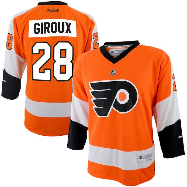 Philadelphia Flyers NHL Hockey Claude Giroux Reebok Youth Replica Player Hockey Jersey - Orange