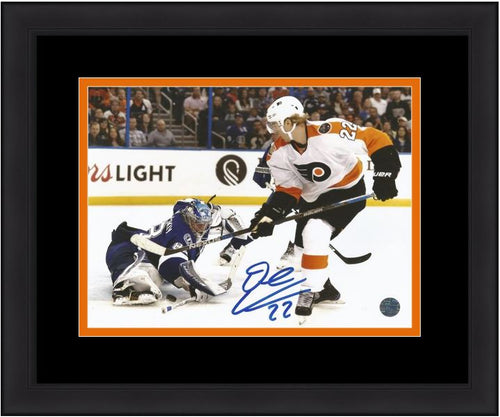 "Philadelphia Flyers Dale Weise v. Lightning Autographed NHL Hockey 8"" x 10"" Framed and Matted Photo - Dynasty Sports & Framing"