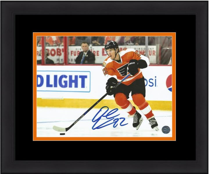 "Philadelphia Flyers Dale Weise Skating Autographed NHL Hockey 8"" x 10"" Framed and Matted Photo - Dynasty Sports & Framing"
