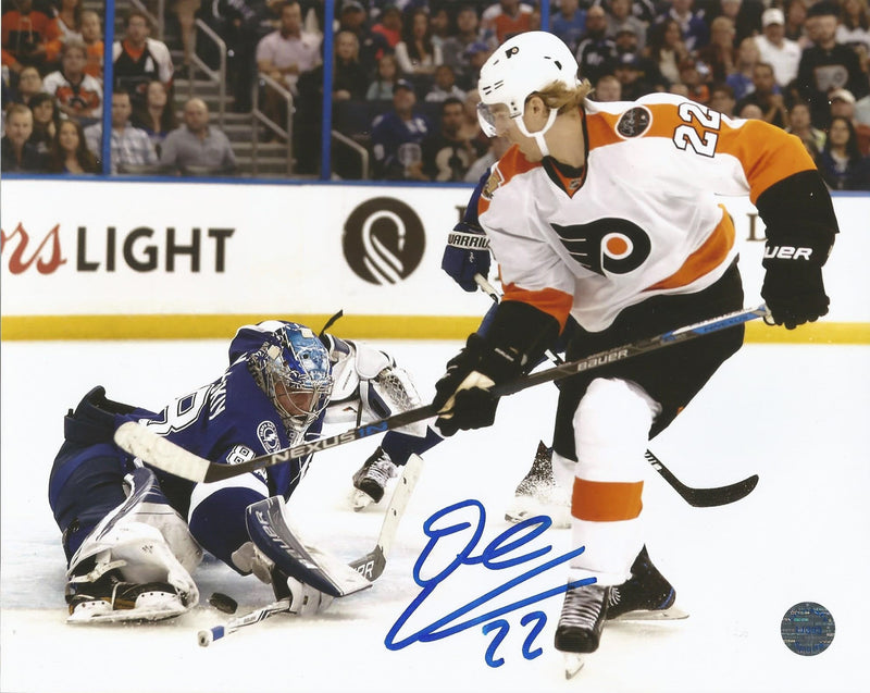 "Philadelphia Flyers Dale Weise v. Lightning Autographed NHL Hockey 8"" x 10"" Photo - Dynasty Sports & Framing"