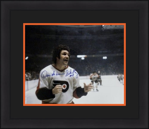 "Philadelphia Flyers Dave Schultz Autographed 16"" x 20"" Framed and Matted Photo with 'The Hammer' Inscription - Dynasty Sports & Framing  - 1"