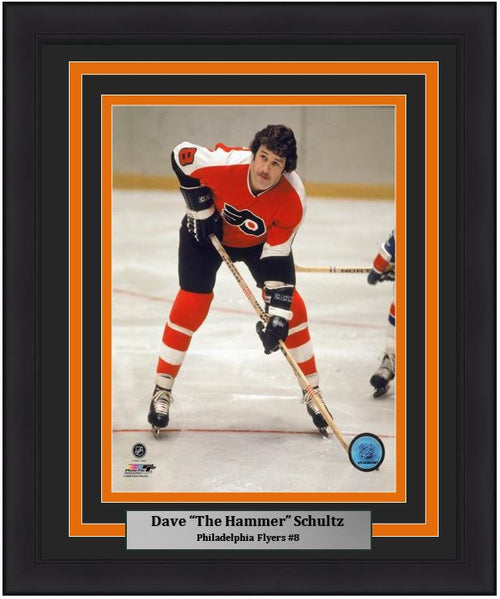 "Philadelphia Flyers Dave Schultz Skating NHL Hockey 8"" x 10"" Framed and Matted Photo"