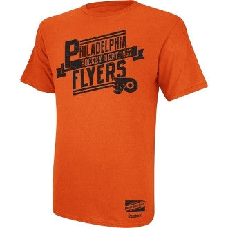 Philadelphia Flyers Reebok Hockey Dept. 1967 Orange T-Shirt - Dynasty Sports & Framing