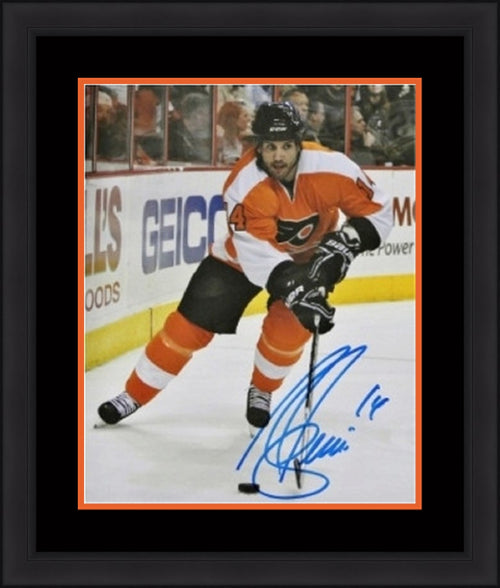"Ian Laperriere In Action Philadelphia Flyers Autographed NHL Hockey 8"" x 10"" Framed and Matted Photo - Dynasty Sports & Framing"