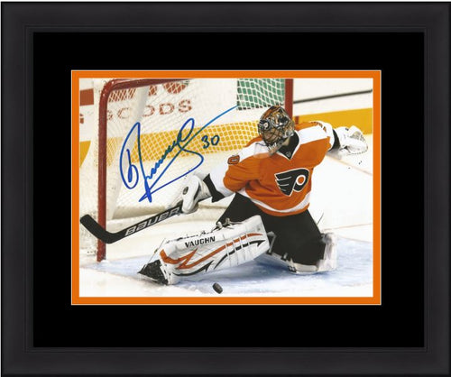 Philadelphia Flyers Ilya Bryzgalov Save Autographed NHL Hockey Framed and Matted Photo - Dynasty Sports & Framing