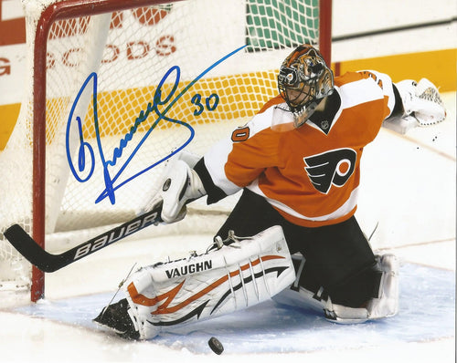Philadelphia Flyers Ilya Bryzgalov Save Autographed NHL Hockey Photo - Dynasty Sports & Framing
