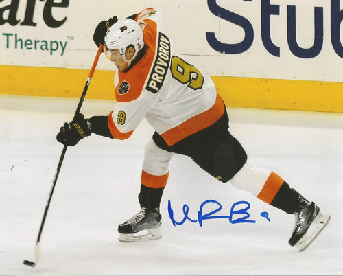 Philadelphia Flyers Ivan Provorov Shoot Autographed NHL Hockey Photo