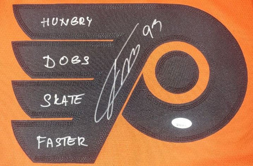 Jakub Voracek Philadelphia Flyers Autographed 2019 Stadium Series Jersey Inscribed 'Hungry Dogs Skate Faster'
