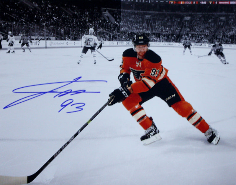 "Philadelphia Flyers Jakub Voracek Close-Up Autographed NHL Hockey 16"" x 20"" Photo - Dynasty Sports & Framing"