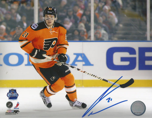 James Van Riemsdyk 2012 Winter Classic Autographed Philadelphia Flyers Hockey Photo - Dynasty Sports & Framing
