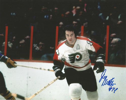 "Joe Watson in Action Autographed Philadelphia Flyers 8"" x 10"" Hockey Photo - Dynasty Sports & Framing"