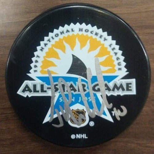 Philadelphia Flyers John LeClair Autographed NHL 1997 All-Star Game Logo Puck