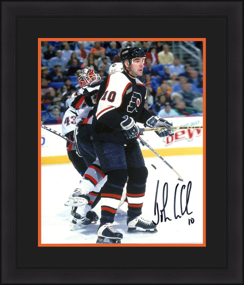 "Philadelphia Flyers John LeClair v. Sabres Autographed NHL Hockey 8"" x 10"" Framed & Matted Photo - Dynasty Sports & Framing"