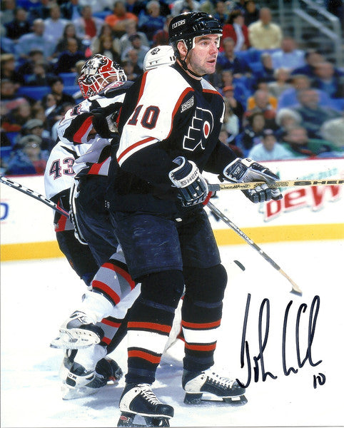 "Philadelphia Flyers John LeClair v. Sabres Autographed NHL Hockey 8"" x 10"" Photo - Dynasty Sports & Framing"