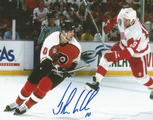 Philadelphia Flyers John LeClair Stanley Cup Finals Autographed NHL Hockey Photo
