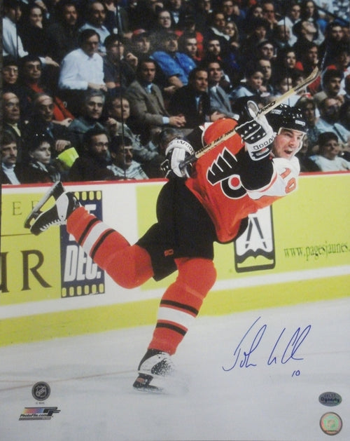 "Philadelphia Flyers John LeClair Slapshot Autographed NHL Hockey 16"" x 20"" Photo - Dynasty Sports & Framing"