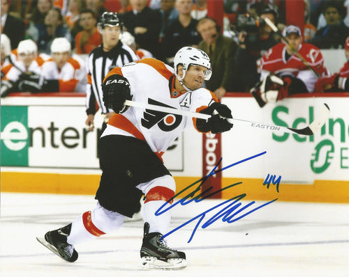 Philadelphia Flyers Kimmo Timonen Slapshot Autographed NHL Hockey Photo - Dynasty Sports & Framing