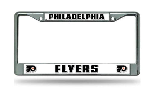 Philadelphia Flyers NHL Hockey Chrome License Plate Frame