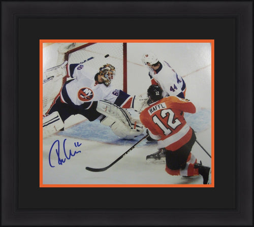 Philadelphia Flyers Michael Raffl Goal Autographed NHL Hockey Framed and Matted Photo - Dynasty Sports & Framing