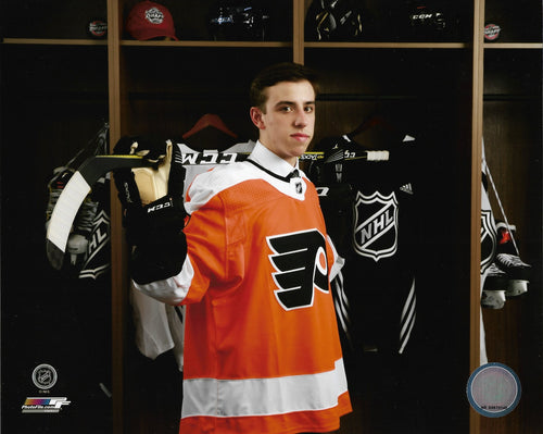 "Philadelphia Flyers Morgan Frost Locker Room NHL Hockey 8"" x 10"" Photo"
