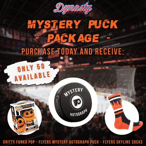 Dynasty Sports Flyers Mystery Puck Box Package
