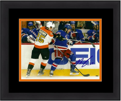 "Philadelphia Flyers Nick Cousins Check Autographed NHL Hockey 8"" x 10"" Framed and Matted Photo - Dynasty Sports & Framing"