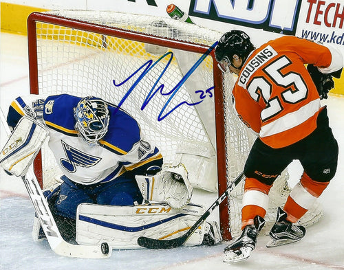 "Philadelphia Flyers Nick Cousins Shot On Goal Autographed NHL Hockey 8"" x 10"" Photo - Dynasty Sports & Framing"