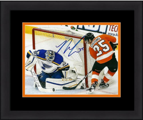 "Philadelphia Flyers Nick Cousins Shot On Goal Autographed NHL Hockey 8"" x 10"" Framed and Matted Photo - Dynasty Sports & Framing"