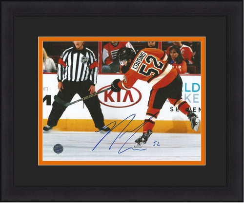 Philadelphia Flyers Nick Cousins Slapshot Autographed Framed and Matted Photo - Dynasty Sports & Framing