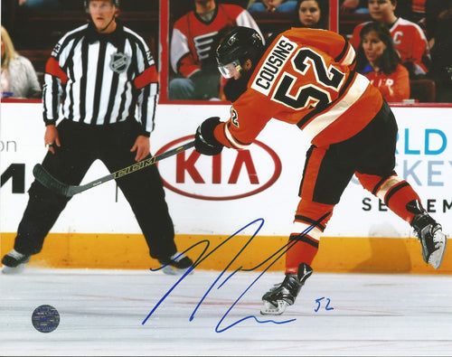 Philadelphia Flyers Nick Cousins Slapshot Autographed Photo - Dynasty Sports & Framing