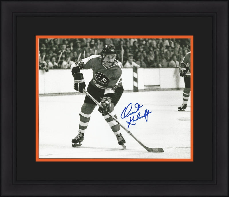 "Philadelphia Flyers Orest Kindrachuk Autographed NHL Hockey 8"" x 10"" Framed and Matted Photo - Dynasty Sports & Framing"