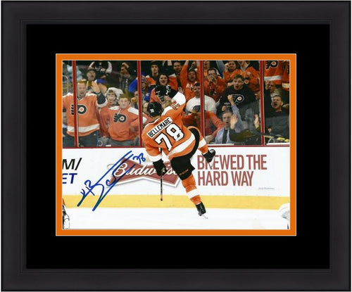 Philadelphia Flyers Pierre-Édouard Bellemare Celebration Autographed NHL Hockey Framed and Matted Photo - Dynasty Sports & Framing