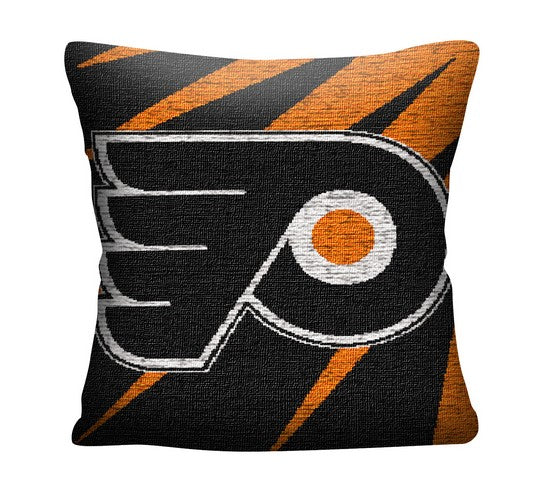 "Philadelphia Flyers 20"" Jacquard Hockey Pillow"