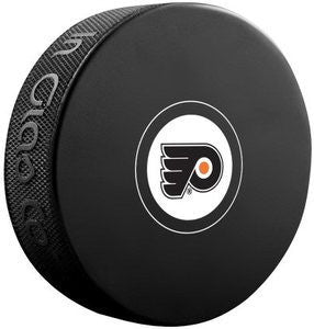 Philadelphia Flyers Autograph Model Logo Hockey Puck - Dynasty Sports & Framing