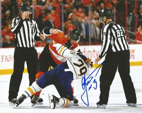 Philadelphia Flyers Radko Gudas Fight Autographed NHL Hockey Photo - Dynasty Sports & Framing
