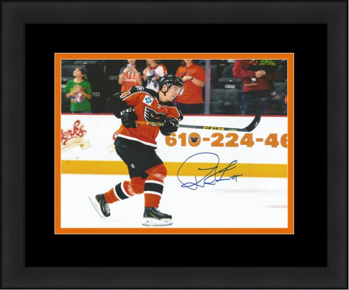 Philadelphia Flyers Robert Hägg Shoot Autographed NHL Hockey Framed and Matted Photo - Dynasty Sports & Framing