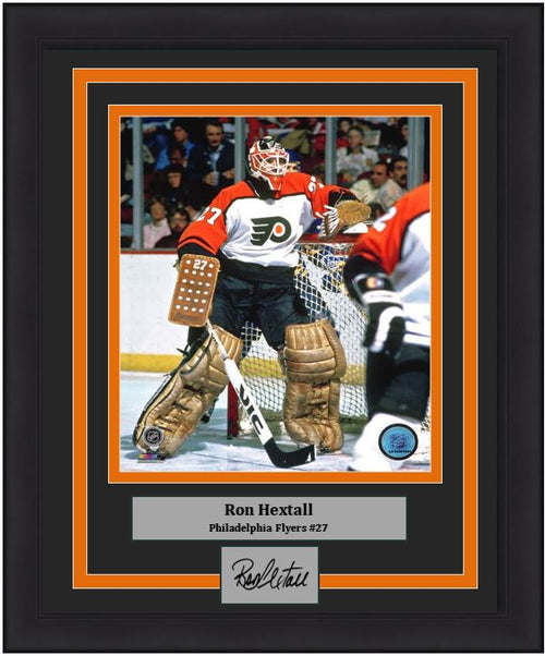 "Philadelphia Flyers Ron Hextall NHL Hockey Engraved Autograph 8"" x 10"" Framed & Matted Photo (Dynasty Signature Collection)"
