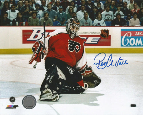 "Philadelphia Flyers Ron Hextall Kick Save Autographed NHL Hockey 8"" x 10"" Photo"